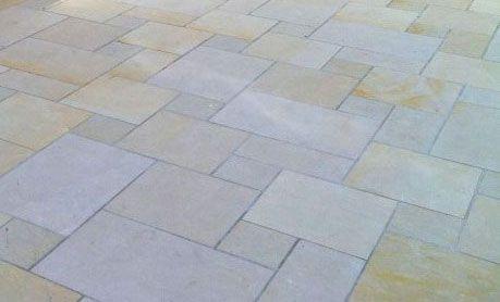 Bodenplatten Sandstein beige-gelb